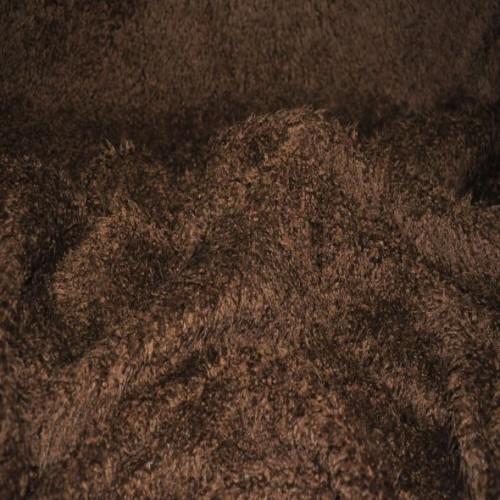 Dzianina futerkowa Włoszka czekolada