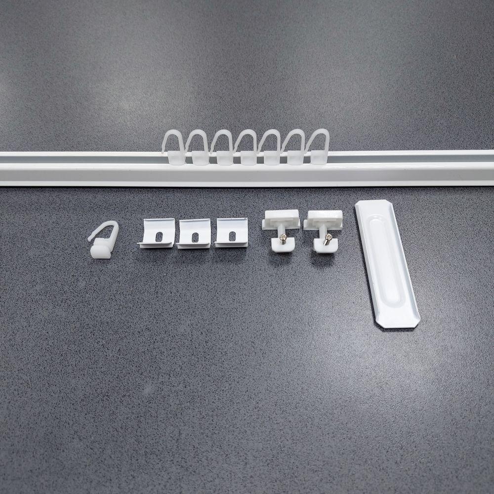 System aluminiowy do mocowania zasłon ogrodowych szer.150cm